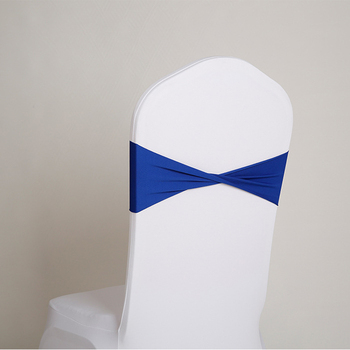 YRYIE Factory Supply Hot Sale Navy Blue Cheap Chair Sashes Spandex
