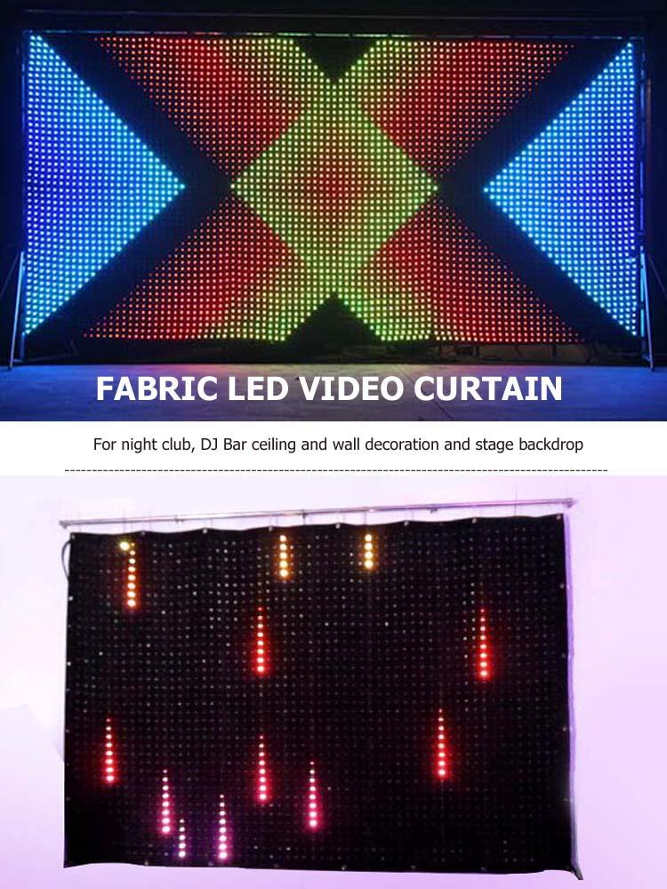 Sıcak satış Esnek Led Video Perde P50 Düğün sahne dekorasyon için