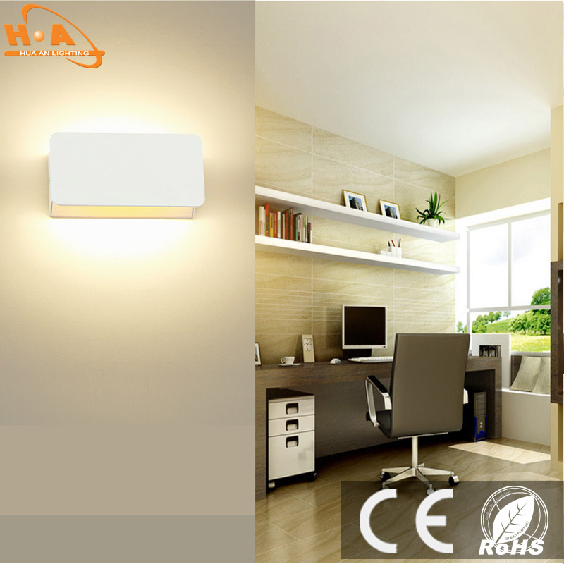 Adjusting atmosphere of bedside LED lamp led wall foot lamp