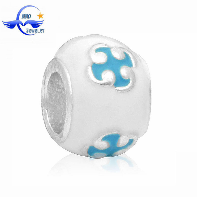 Yiwu Fashion Jewelry Manufacturer European Large Hole Enamel Loose Beads fro Jewelry Making