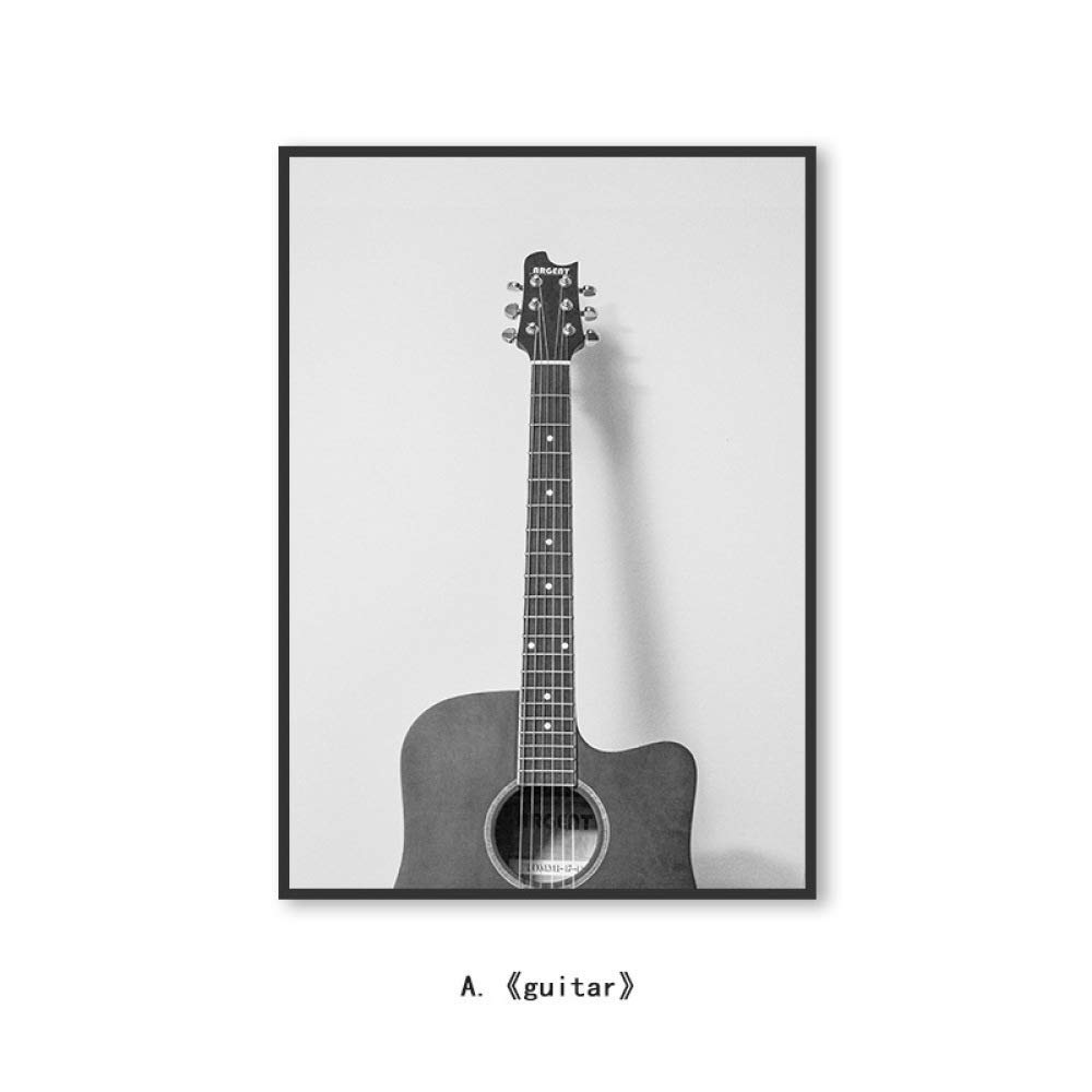 DEED Nordic modern minimalist black and white painting, living room sofa wall painting, bedroom restaurant mural, guitar decorative painting