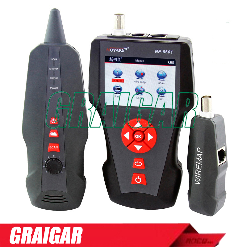 Network Wire Tracker Cable Tester RJ45 RJ11 BNC POE PING NF-8601