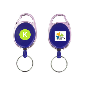 carabiner Retractable Badges with keyring/Carabiner retractable pull reel badge holder