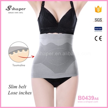 9fe2b6742f S-SHAPER Invisible Tummy Trimmer Tourmaline Bamboo Waist Belt B0439A6