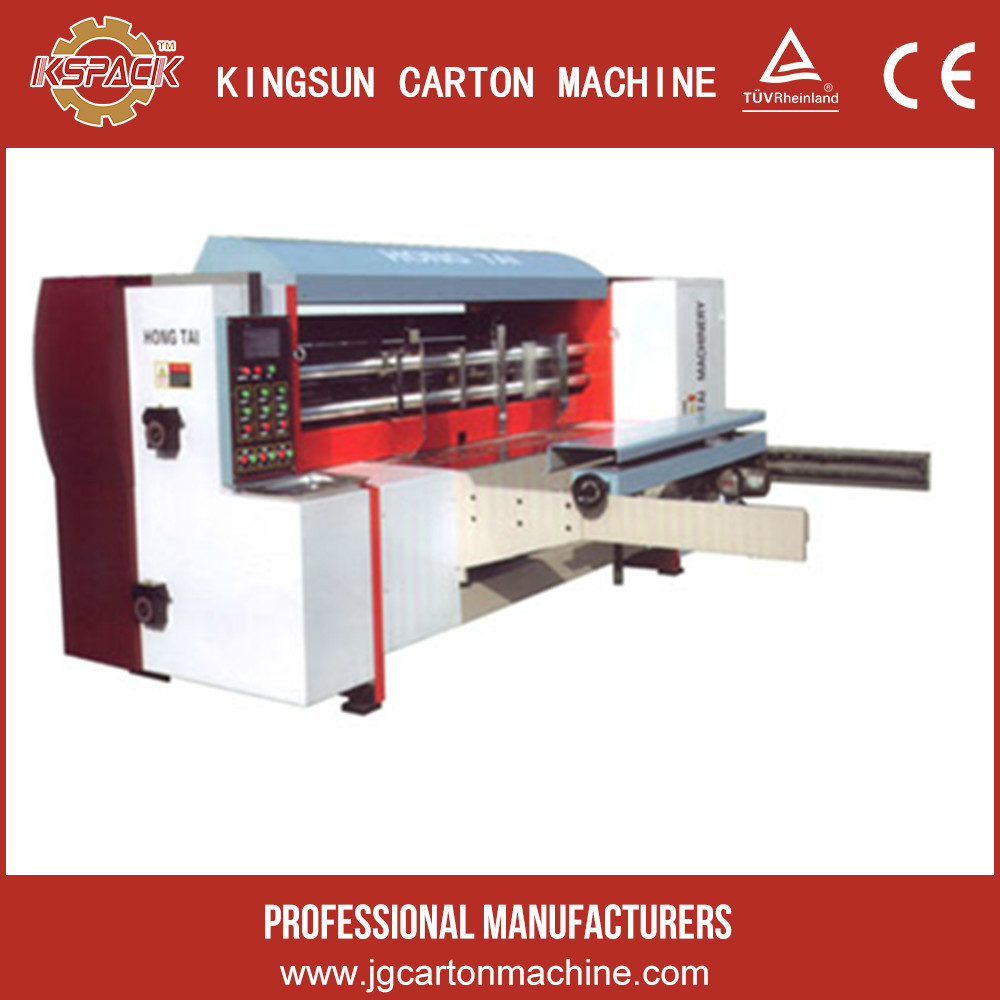 high speed 5colors flexo ink printing and slotting rotary die cutting carton machinery