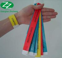 OEM Event Tyvek Paper Adhesives Wristband