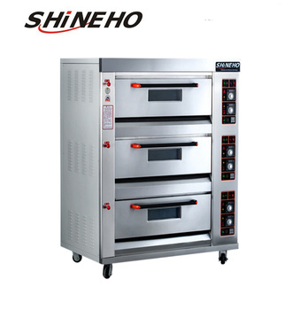 Gas conveyor pizza oven/hot air convection oven/industrial bread baking oven for sale