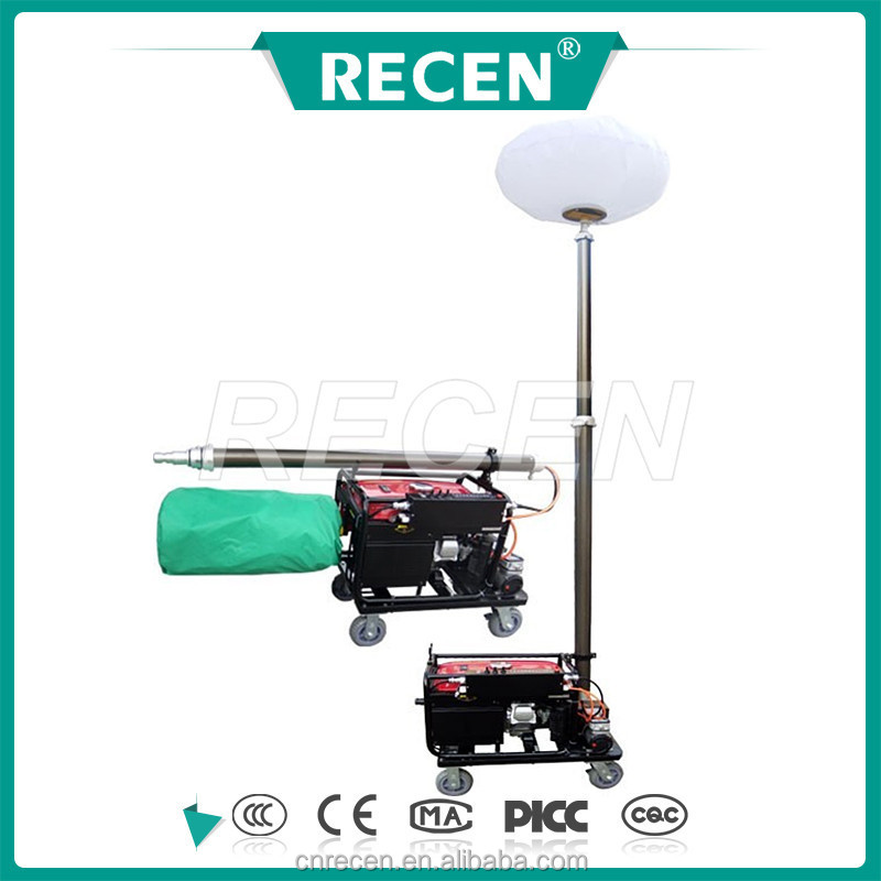 1000w MH manual or 50m remote control scalable Balloon lighting tower, high mast lighting tower