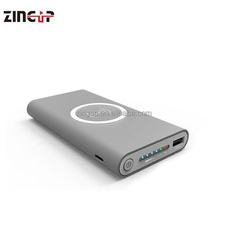 ZingUp Original 2017 New Supply 10000Mah Mobile Phone Laptop <strong>Portable</strong> Fast Charging Wireless Charger Power Bank