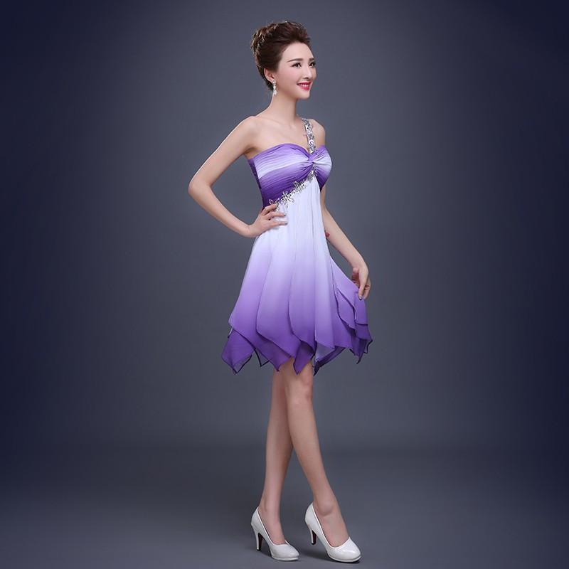Encantador Sexy Vestidos De Cóctel De Color Púrpura Molde - Vestido ...