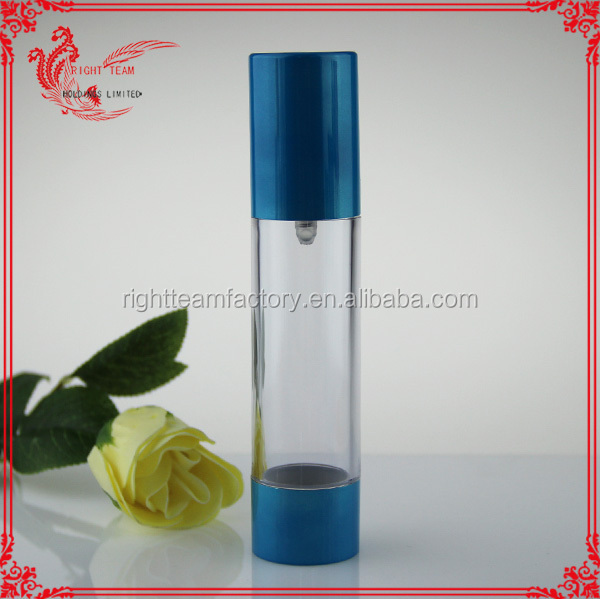 blue 100ml lotion airless bottle packing essential oil/perfume vacuum bottle