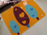Popular children logo print pvc coil mat