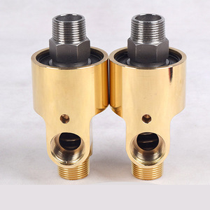 GOGO ATC Two-way Left-hand thread high temperature steam rotating joint water rotary connector 1 1/4-1/2 inch brass fitting
