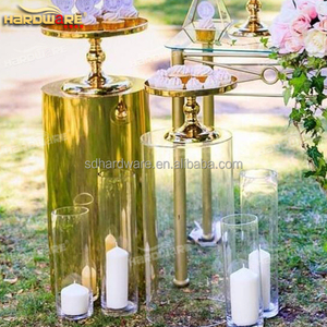 round acrylic plastic wedding banquet pillars for decoration