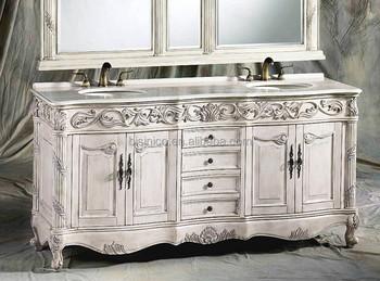 clsico retro muebles de bao vanidad con doble lavabo vintage porcelana sanitaria tallado mueble de - Muebles De Bao Clasicos
