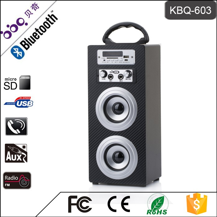 Bbq Kbq-603 Audio Music Mini Portable Wooden 10w Karaoke Bluetooth ...