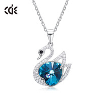 Wholesale Swan Pendant Necklace 925 Sterling Silver Jewelry For Women