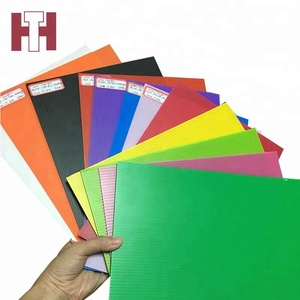 Colorful hollow polypropylene 2mm thick pp plastic sheet