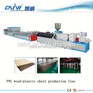 WPC foamed plate production machine / wood plastic door / board extrusion line