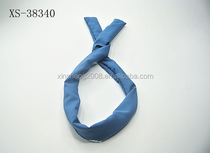 Lovely solid color rabbit ear soft silk head wrap
