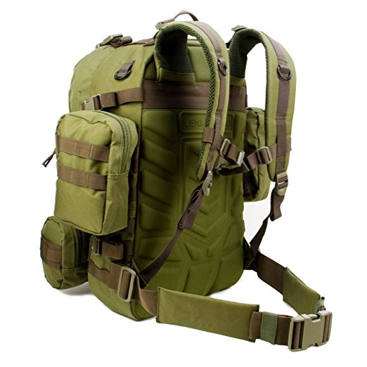 3 Day Operator's Pack Military Style Molle & Hydration Compatible Tactical Backpack, Bug Out Bag for Outdoors, Survival