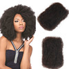 Afro Kinky bulk indian human brazilian hair wave 100 virgin afro Kinky bulk human hair weave extension