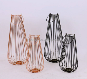 New Design Metal Wire Lantern Basket