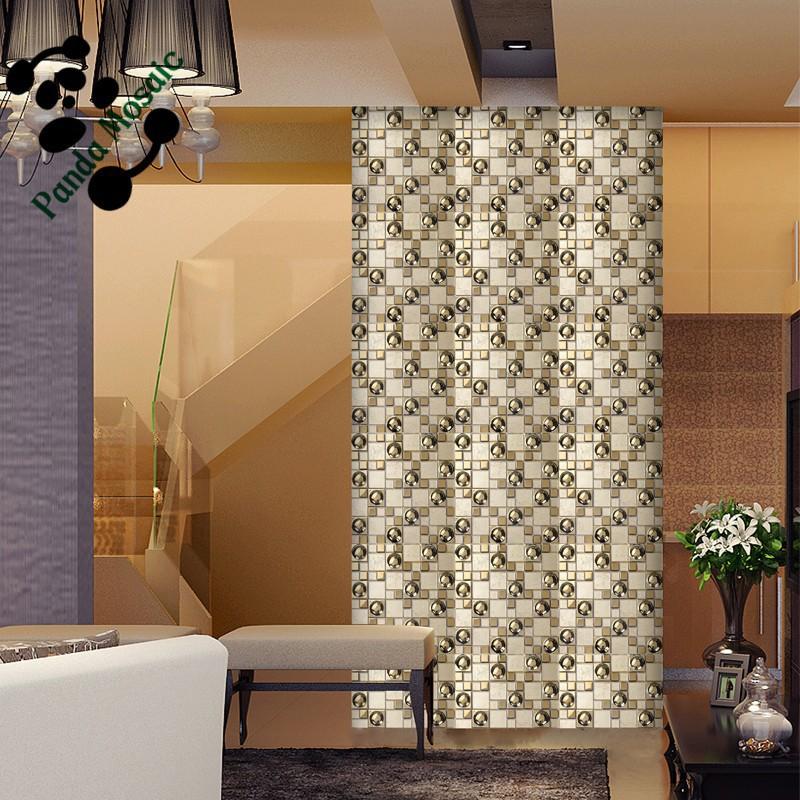 Mo SMG03 conception de forme spéciale de luxe mosaïque dorée ...