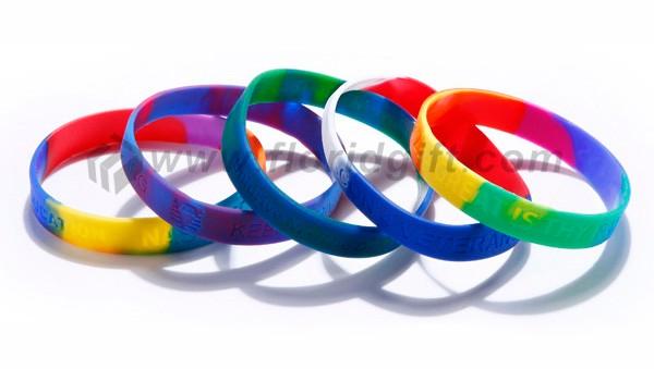Promotional Products Custom Camouflage Baseball Rubber Bracelets