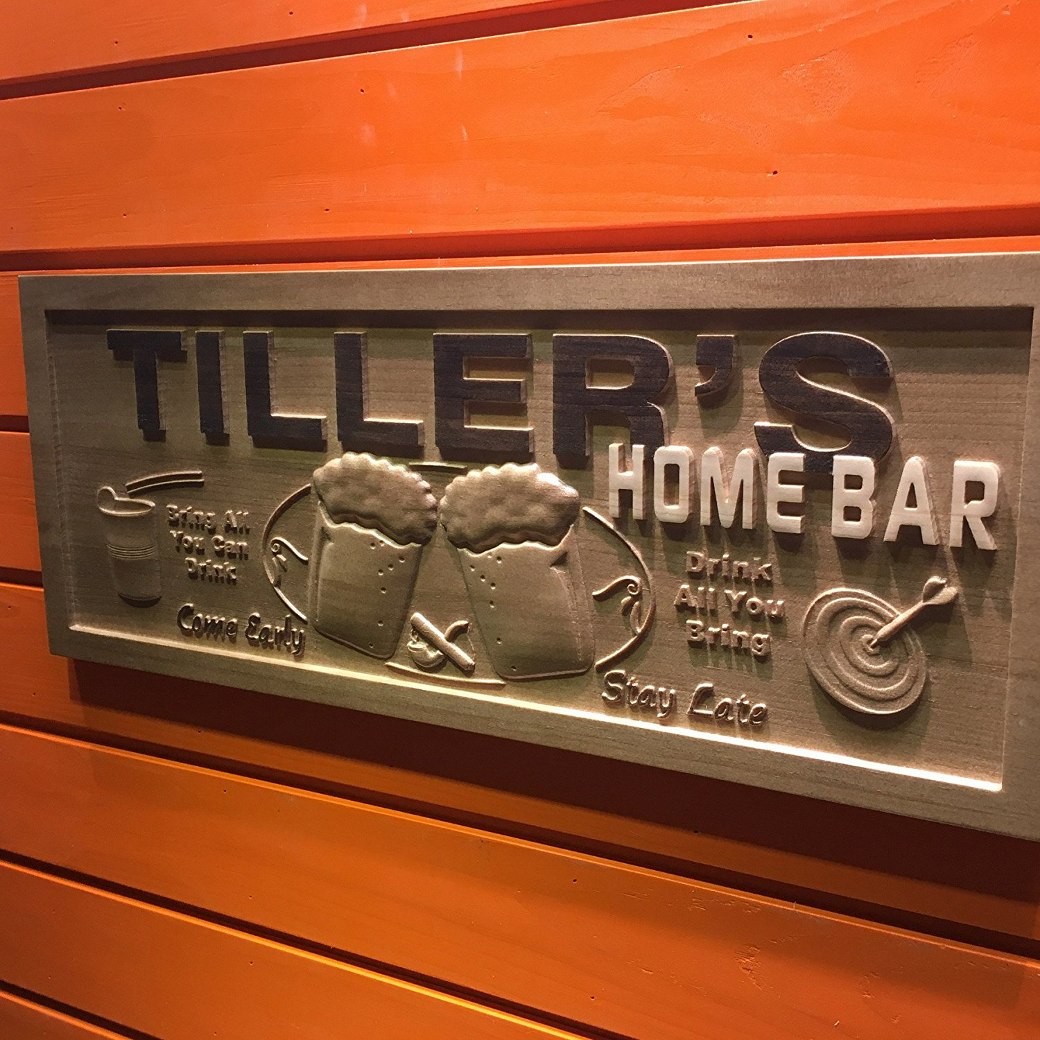 Awesome Wpa0053 Name Personalized Home Bar Wooden 3D Engraved Sign Custom Gift  Craved Bar Beer Home Décor