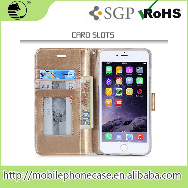 Many Colors Customized Wallet Case Cover Mobile Flip Cover For iphone 6s