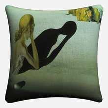 Декоративная наволочка из хлопка и льна для подушки Salvador Dali Surreal Art 45x45 см, наволочка для дивана, стула, домашнего декора, Almofada(Китай)