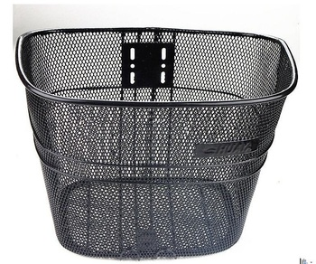 top-selling black bike basket steel wire/good quality strong bicycle front basket for sale