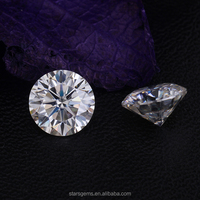 8.0mm 2ct round heart and arrow excellent cut D/E/F white moissanite for jewelry