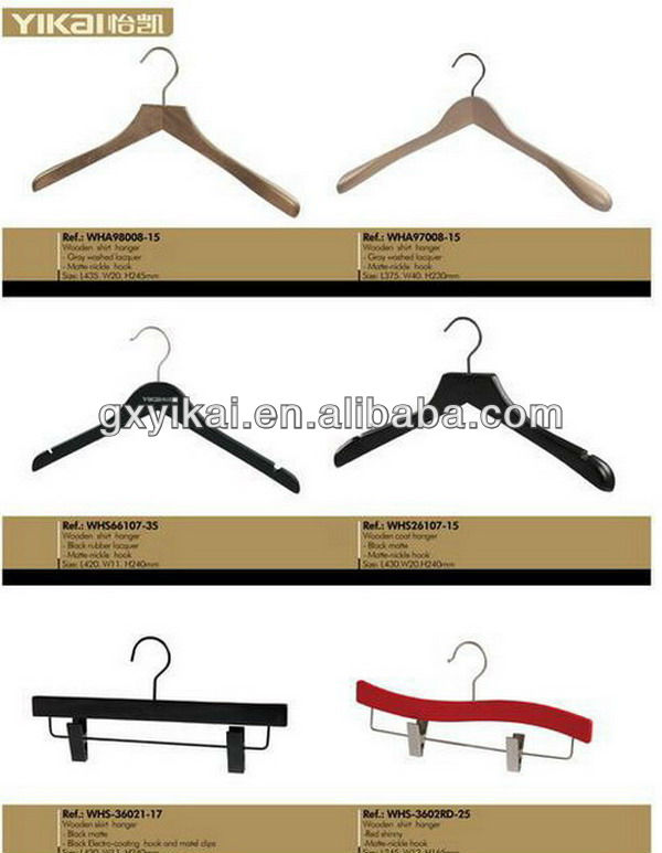 Beech wood luxury clothes hanger