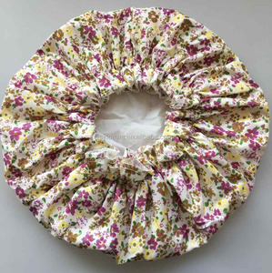 popular lady's flower design shower cap