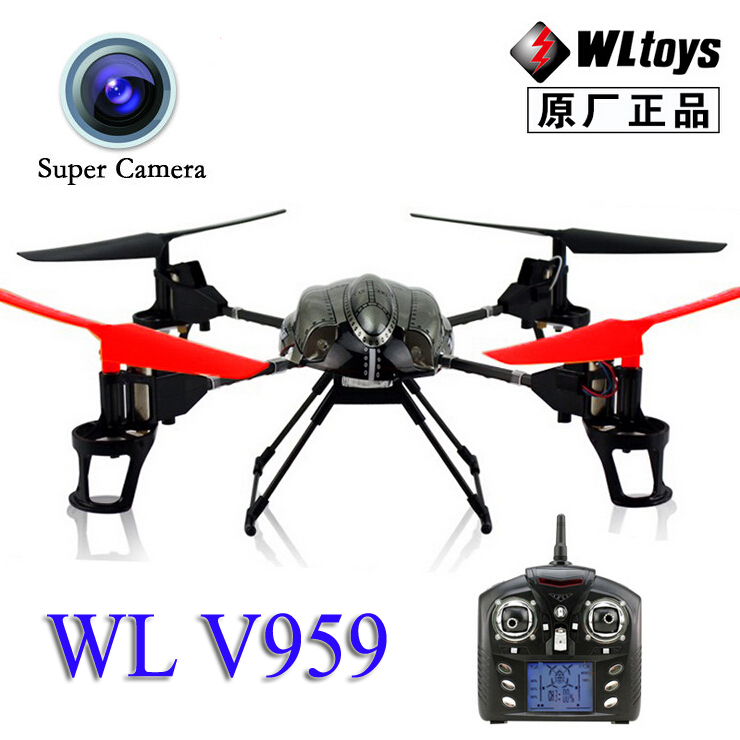 Free Shipping WL V959 With Camera 2.4G 4CH RC Quadcopter Quadricopter 6-Axis