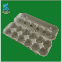Custom molded fiber pulp recyclable paper egg cartons