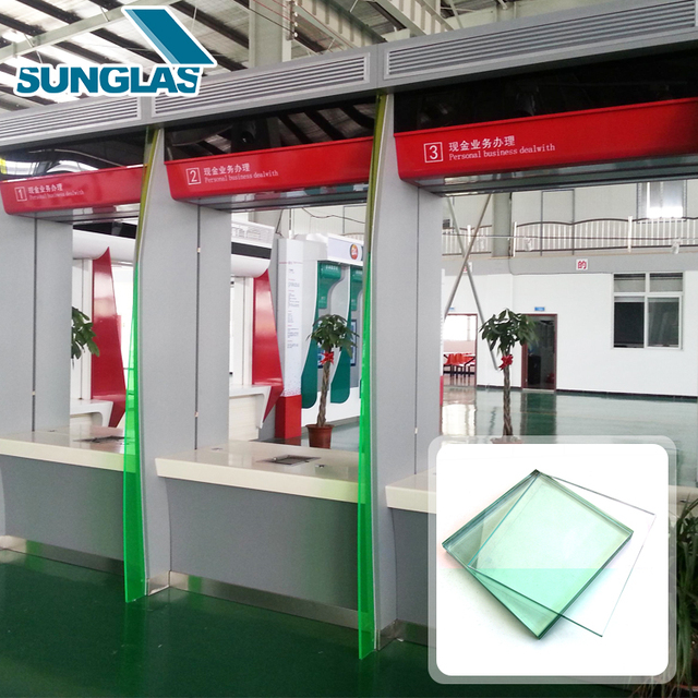 c40e4ee6e397 Alibaba High Quality 12mm 15mm 19mm Flat Clear Glass Laminated Bulletproof  Glass Sale For Back Counter