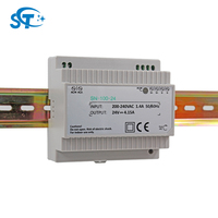 DIN RAIL AC 220V DC 24V Base 100W 4.15Amp Power Supply Power Adapter for Digital LED Programmable Timer Time Relay Switch