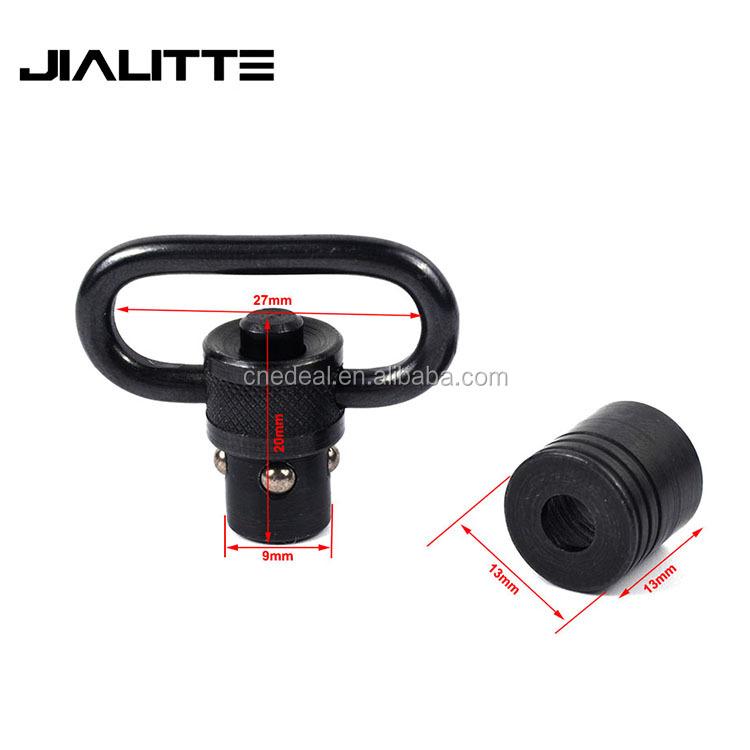 Jialitte J224 Heavy Duty Push Button QD Sling Swivel Loop Ar15 Accessories Tactical 1inch Sling Swivel mount, Black