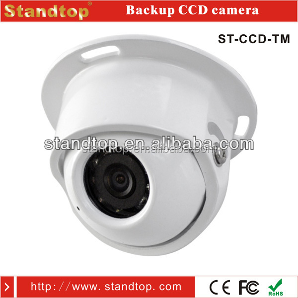 White Outer Casing 1/3 Sharp CCD CCTV Security Camera Inside car and Bus