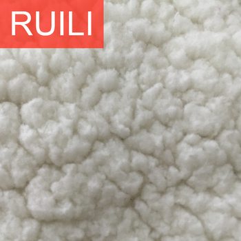 f5778c064c9a3 White Cloudy Sherpa Fleece Fabric Clothes Garment Coat Lining Fabric ...