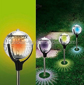 Led Colour Changing Lamp Solar Power Garden Decorative Lights ...