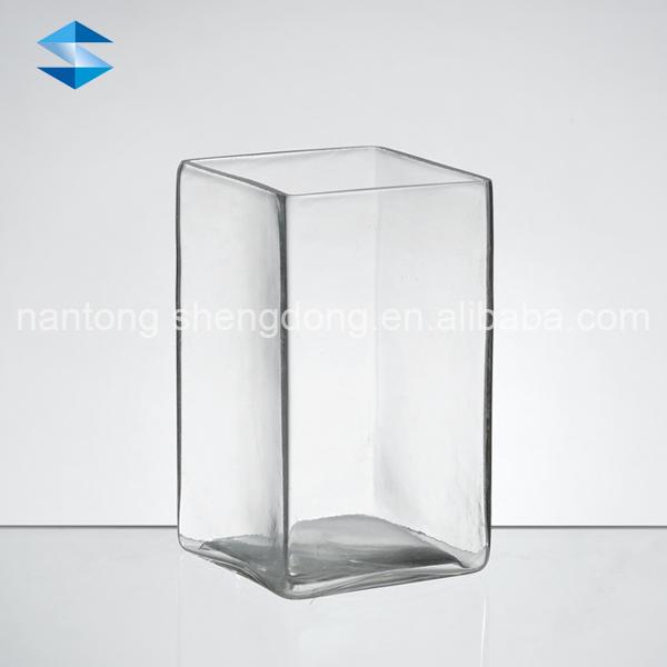 Rectangular Clear Glass Vases Rectangular Clear Glass Vases