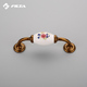 96mm luxury fancy classical handle ceramic drawer pull 5035