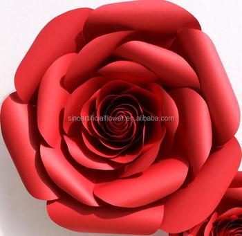 Decoração Papel De Parede Pano De Fundo Rosa Vermelha Flores Artificiais Atacado Buy Atacado Flores De Papelflores Artificiais De Paredeflor Rosa