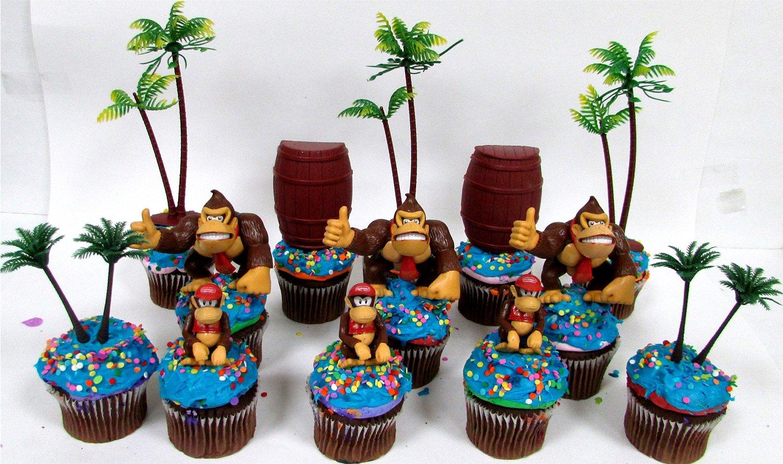 Prime Buy 14 Piece Super Mario Brothers Donkey Kong Birthday Cupcake Funny Birthday Cards Online Amentibdeldamsfinfo