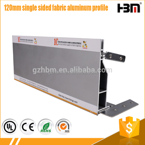Wholesale frameless fabric lightbox frame LED edgelit light SEG aluminum extrusion profile