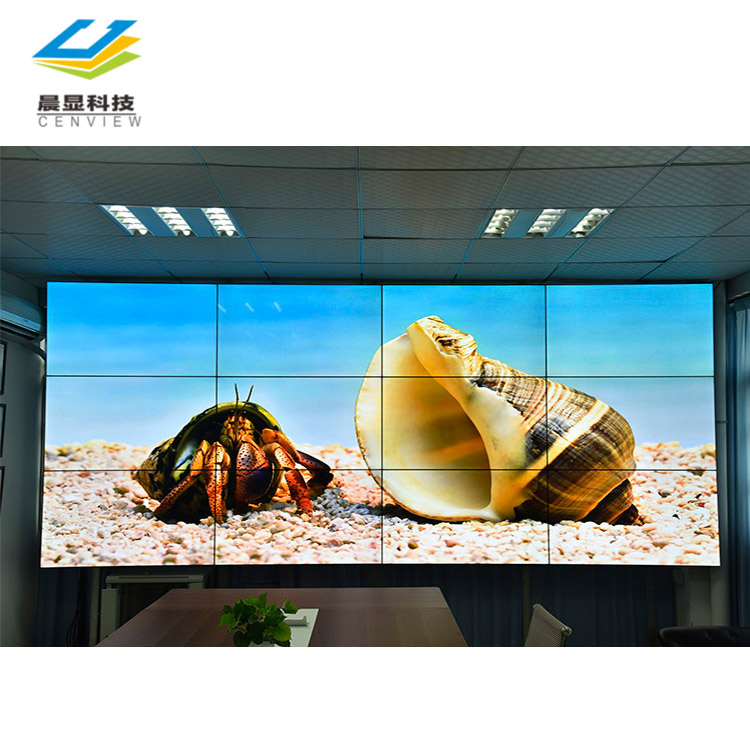 2x2 lcd tv muur smalle bezel video muur, reclame 55 inch video wall systeem